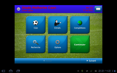 football manager accueil