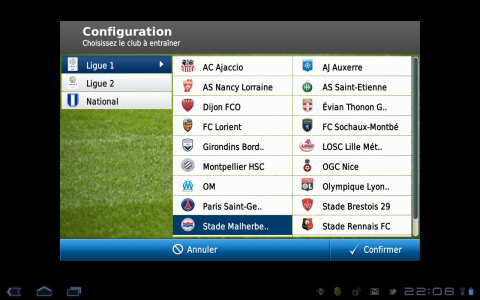 football manager config