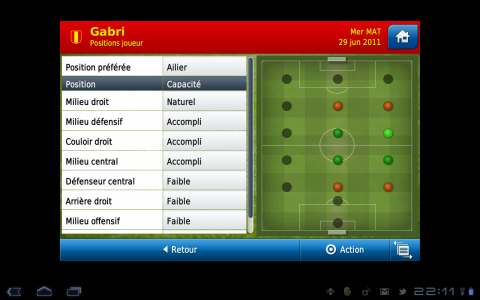 football manager joueur position