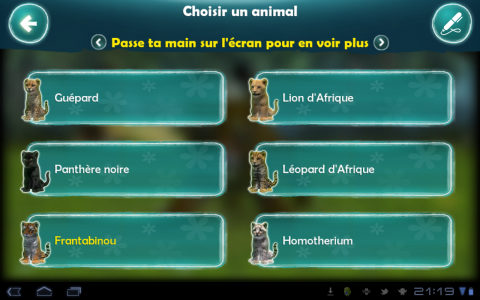 kinectimals animaux