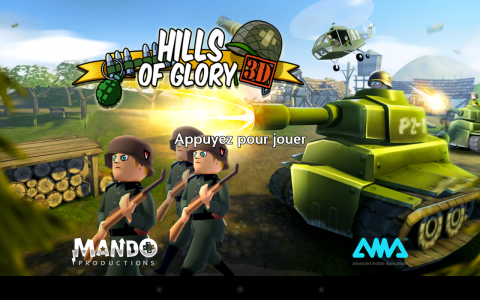 Hills of Glory 3d acceuil