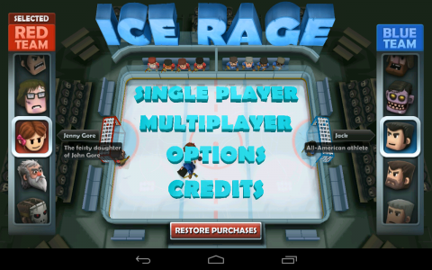 Ice Rage accueil