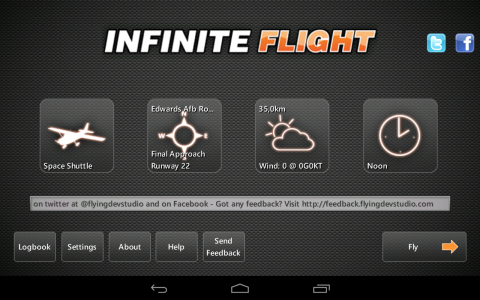 Infinite flight acceuil