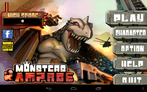 Monster Rampage accueil