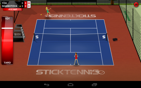 Stick tennis ingame